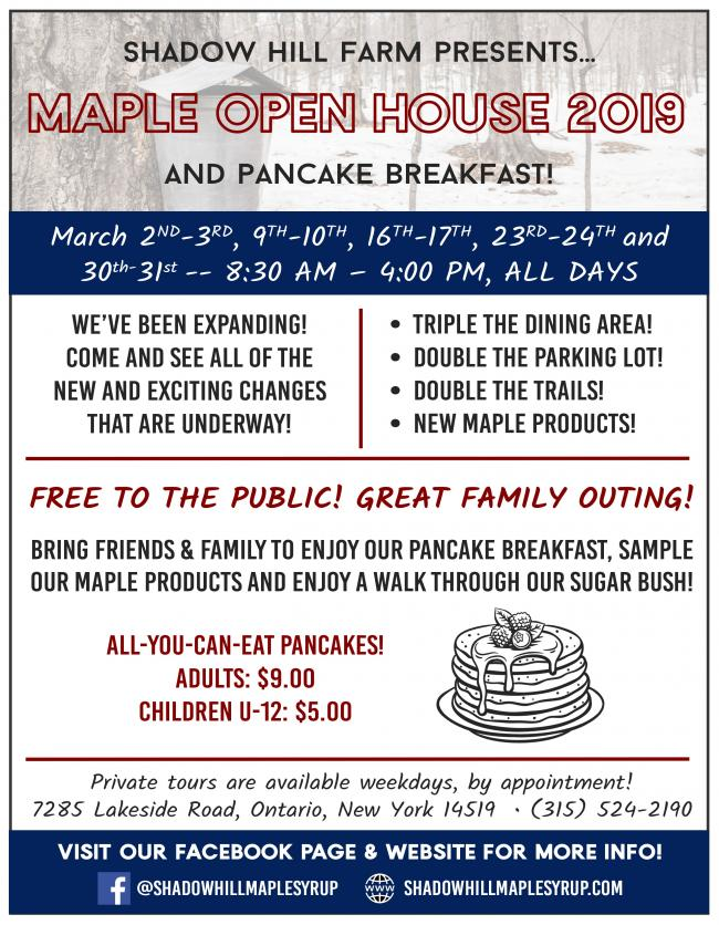 ac5050de960 Shadow Hill Maple Syrup Open Houses every weekend in March 8 30-4 00  Saturdays and Sundays. Great family fun! Learn how syrup is made